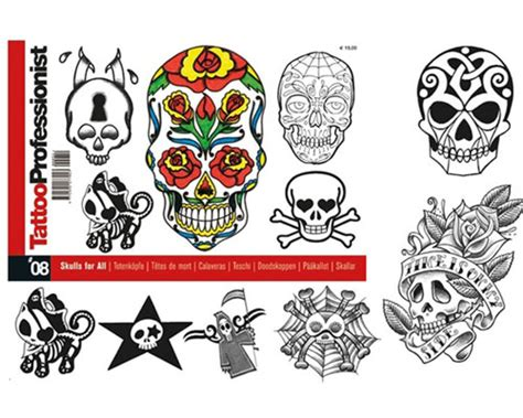 tattoo flash books canada pro skulls for all flash book 8 professionist flash