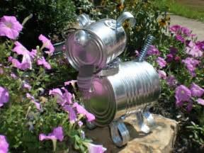 Garden art tin can dog tin man pinterest