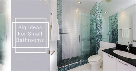 big ideas for small bathrooms five big ideas for small modern bathrooms avonlea