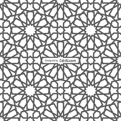 seamless pattern coreldraw vector background with seamless pattern in islamic style