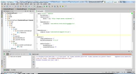 gradle android android project with robolectric and gradle android studio web development