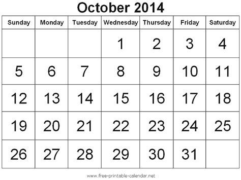 Calendar For October 2014 October 2014 Month Calendar Www Imgkid The Image