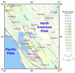 fault lines in california map hayward fault zone