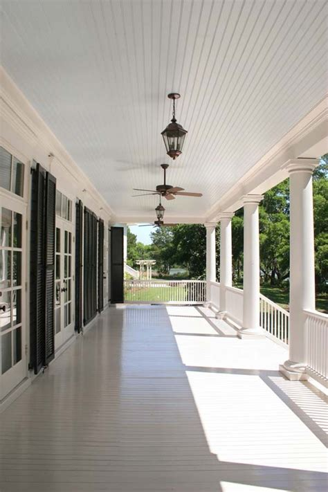 blue beadboard porch ceiling porch