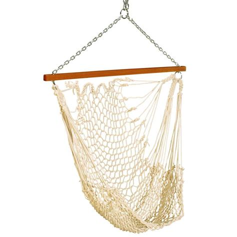 home depot rope swing pawleys island 2 ft single rope hammock swing white s 105