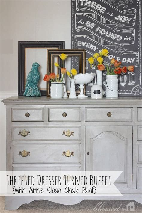 thrifted dresser turned buffet makeover myblessedlife