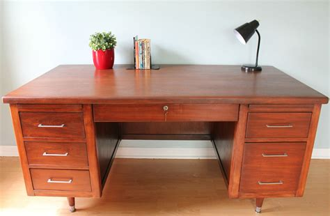 Hoosier Desk Company History by Just Finished Refinishing This Mid Century Executive Desk