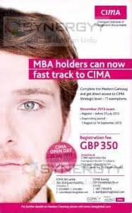 For Mba Holders by Cima Qualification For Mba Holders 171 Synergyy