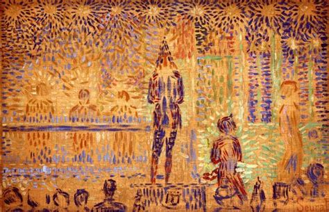 seated model side view 1887 georges seurat oil study for invitation to the sideshow 1888 georges