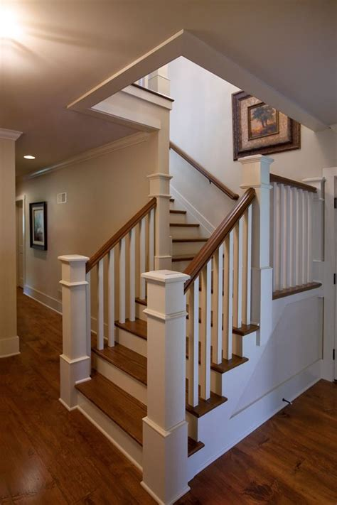 shaped stair  painted balusters  risers