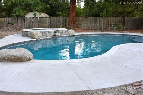 Backyard Pool Updates Backyard Update Pool Fence Brick Patio Completed