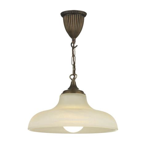 ceiling pendant light with reeded glass shade