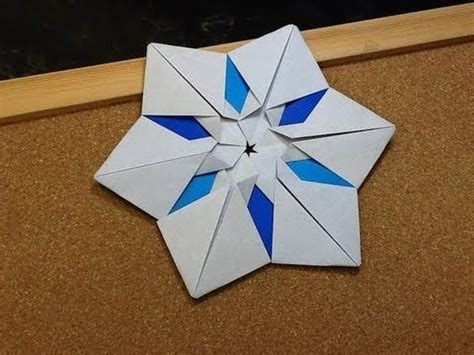 How To Make Snowflake Origami - daily origami 552 snowflake coaster origami