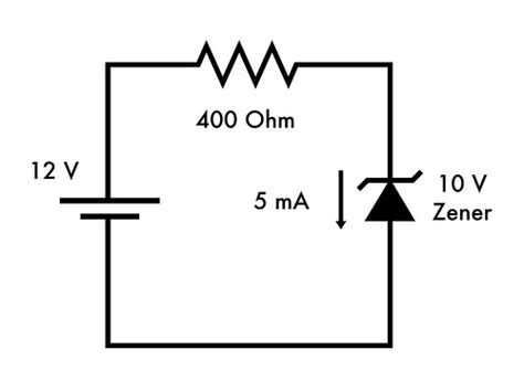 resistor and zener diode in series basics introduction to zener diodes evil mad scientist laboratories