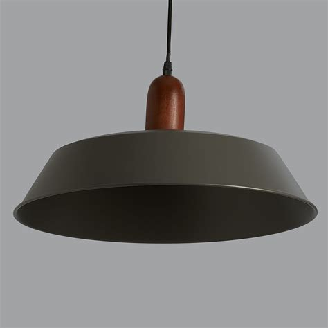 Pendant Light Wood Phineas Grey And Wood Pendant Light