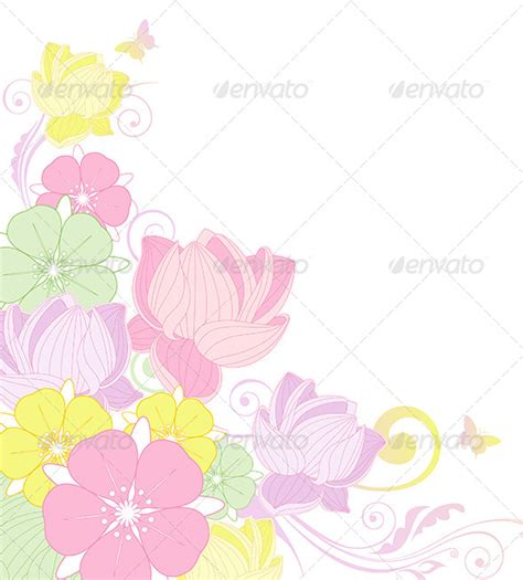 flower wallpaper zip floral background with lotus graphicriver