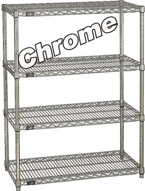 heavy duty chrome wire shelving nxa