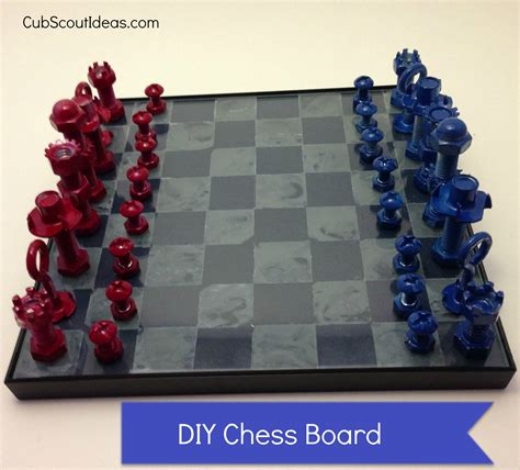 diy chess set cub scout project idea diy chess board cub scout ideas