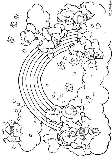 free coloring pages of rainbows and care bears