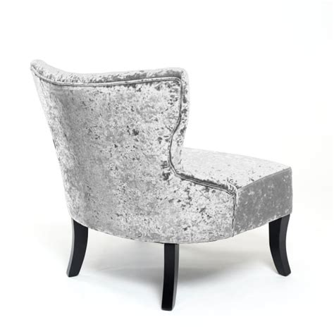 Silver Accent Chair Shankar Belgravia Crushed Velvet Silver Accent Chair Shankar From Emporium Home Interiors Uk