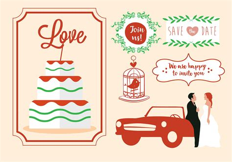 Wedding Card Vector by Free Vector Wedding Card Design Free Vector