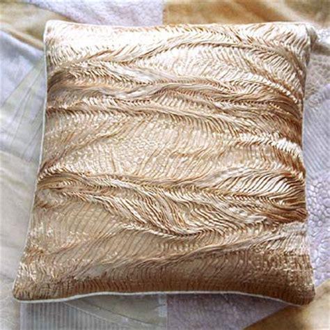 designer kissen designer cushion crafted in pleated silk
