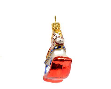 nostalgic christmas glass ornament mini rocking horse r c