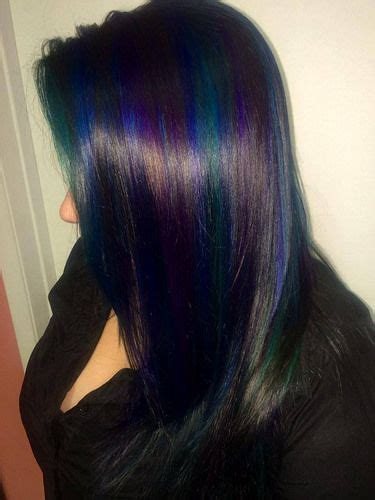 dark brown hair combinations hair color trends 2017 2018 highlights blue teal