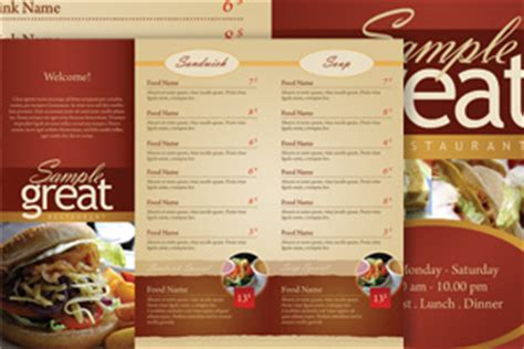 restaurant take out menu templates best photos of adobe restaurant menu template photoshop