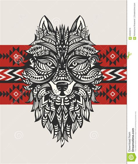 ethnic totem of a wolf indian wolf a tattoo of a wolf