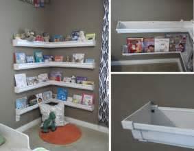 Kids Room Organization by Diy Rain Gutter Bookshelves Classroom Ideas Pinterest