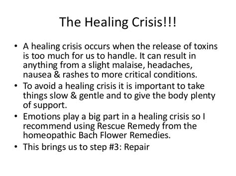 Detox Healing Crisis Symptoms by Basic Cleansing Techniques A Detox Guiede For Beginners