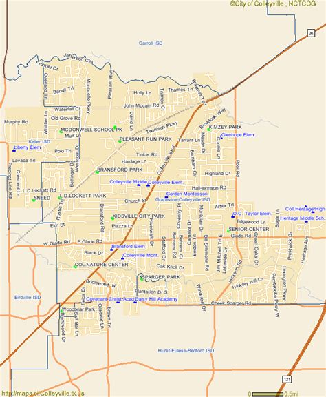 colleyville texas map colleyville texas school and school district map