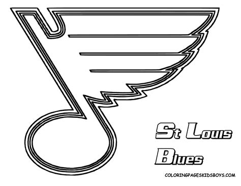 free st louis blues coloring pages