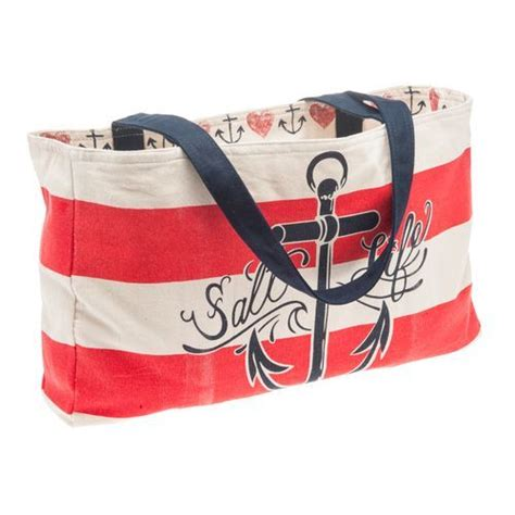 Anchor Stripe Bag salt anchor stripe reversible bag desire