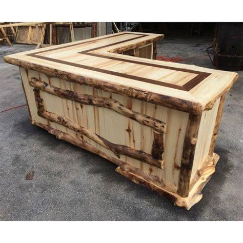 cedar stuff com rustic log furniture pinned with beaver creek aspen l shaped rustic desk aspen desks and