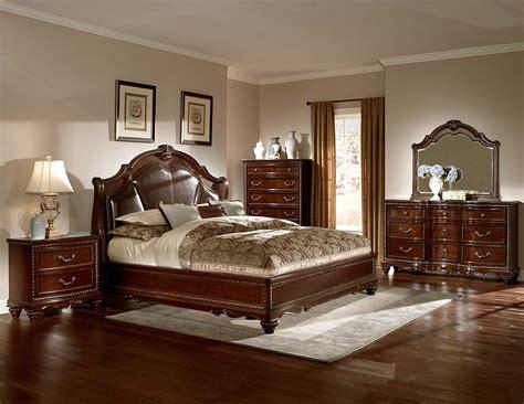 homelegance hampstead court bedroom set cherry  bed