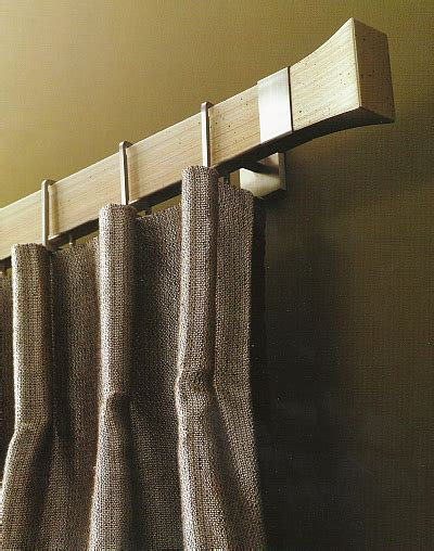 modern curtain rod like the bold clean look of this conica style curtain rod in brushed nickel and antique silver