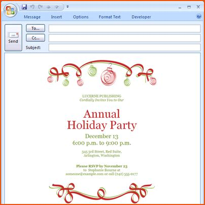 Email Card Template Microsoft by Microsoft Office Templates Invitations Orderecigsjuice Info