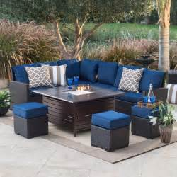 patio furniture with pit belham living monticello all weather wicker pit chat