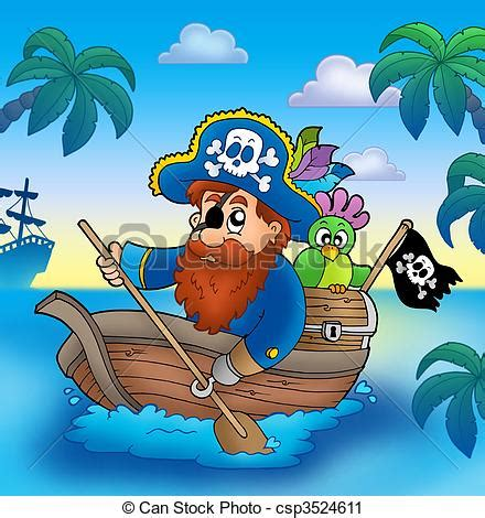 barco fantasma dibujo clipart de remar caricatura barco pirata cartoon