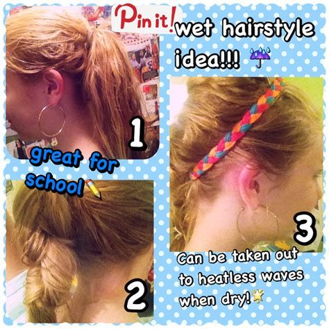 heatless hairstyles for wet hair super simple hairstyle for wet hair can be taken out