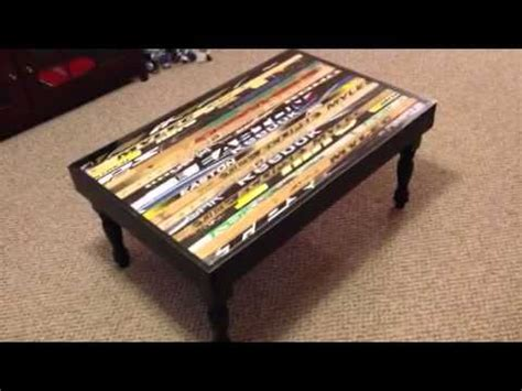 table and stick hockey stick table