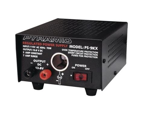 pyramid charger pyramid ps9kx power supply 5a 7a with car charger