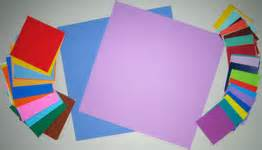 Origami Materials - make a mothers day card with an origami twist