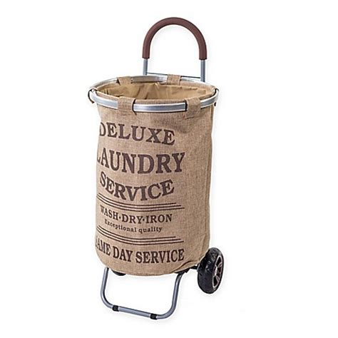 bed bath and beyond laundry her trolley dolly collapsible aluminum laundry cart with