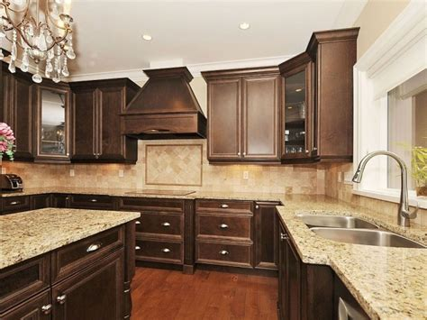 Chocolate Color Kitchen Cabinets | traditional kitchen love the chocolate brown home