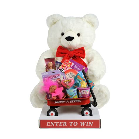 valentines day teddy with toys white