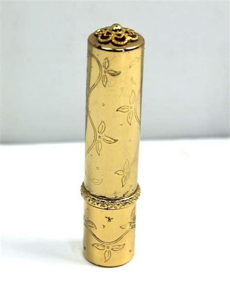 Lipstik Revlon Gold beautiful vintage gold tone revlon 501 lipstick holder engraved flower beautiful