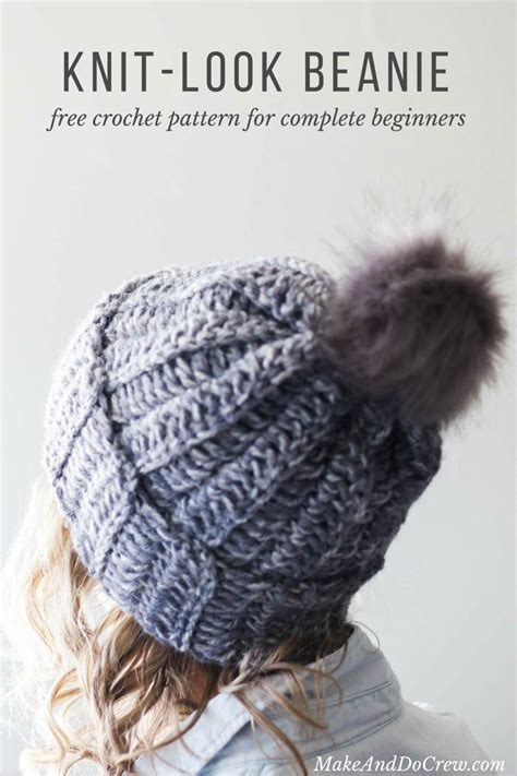 how to knit a beanie for beginners one hour free crochet hat pattern for beginners tutorial
